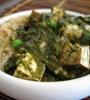 Vegan Saag Paneer {Slow Cooker}