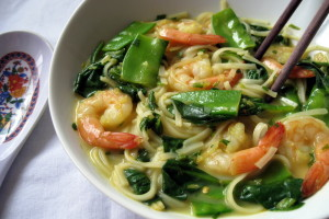 Coconut-Curry Soup with Shrimp