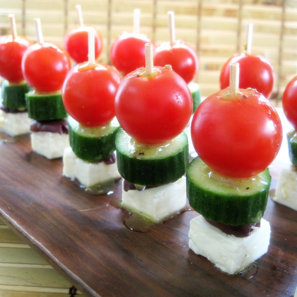 Greek Salad Bites Recipe from www.everydaymaven.com