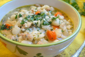 Italian Butterbean and Chicken Sausage Soup