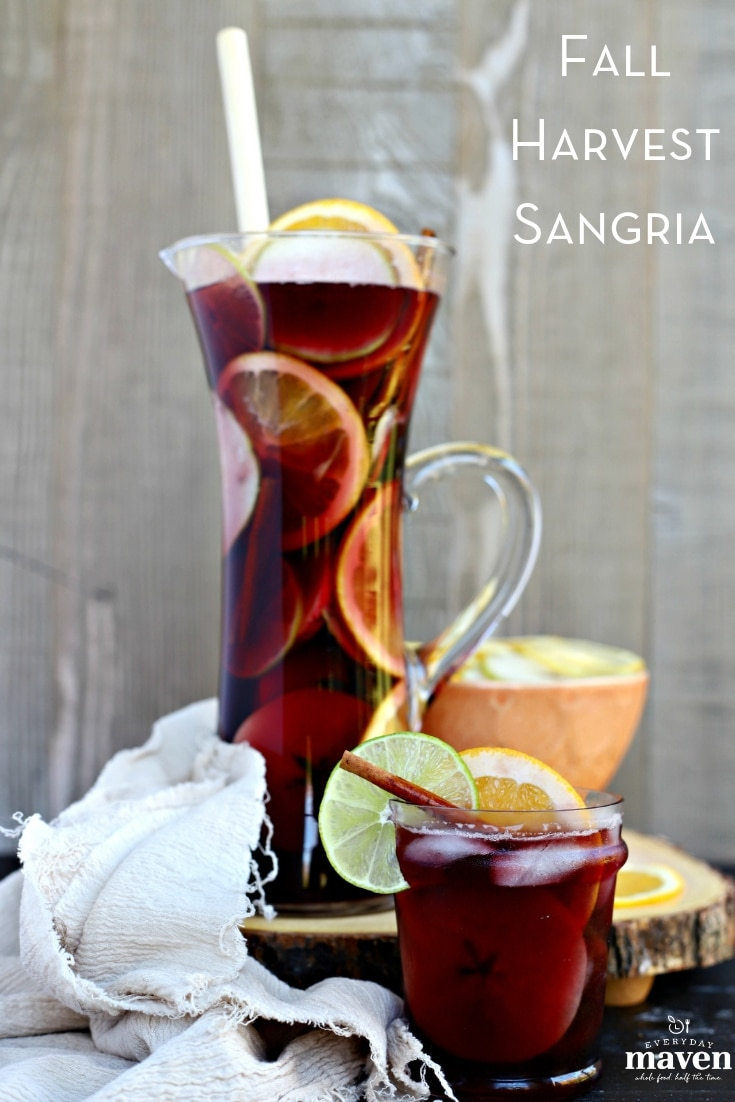This Fall Sangria Recipe is super popular and always disappears so fast! Infused with citrus, apples, pears, cherry brandy and cinnamon!