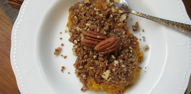 Skinny Sweet Potato Casserole. Vegan Sweet Potato Casserole. from www.everydaymaven.com