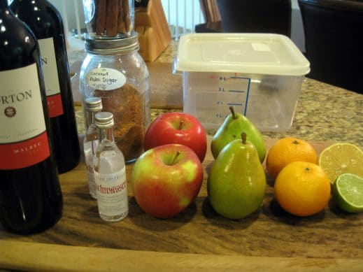 ingredients to make Fall Sangria
