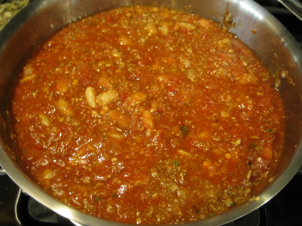 Roasted Spaghetti Squash with Mushrooms