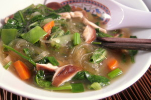 Miso Soup with Kelp Noodles from www.everydaymaven.com