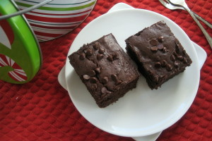 Coffee & Kahlua Chip Brownies