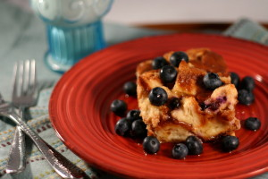 {Blueberry and Vanilla} Overnight Baked French Toast