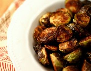 Crispy Roasted Brussels Sprouts from www.everydaymaven.com