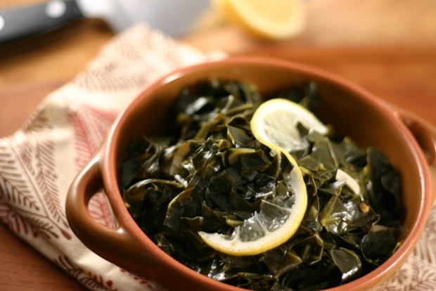 Garlicky Braised Collard Greens