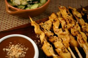 Chicken Satay with 1 Point Peanut Sauce