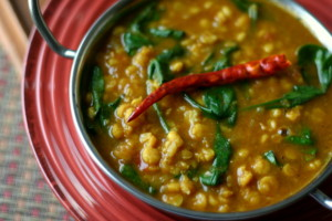 Chana Dal with Spinach Soup {Slow Cooker}