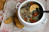 Beef and Mushroom Barley Soup from www.everydaymaven.com