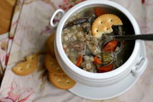 Beef and Mushroom Barley Soup