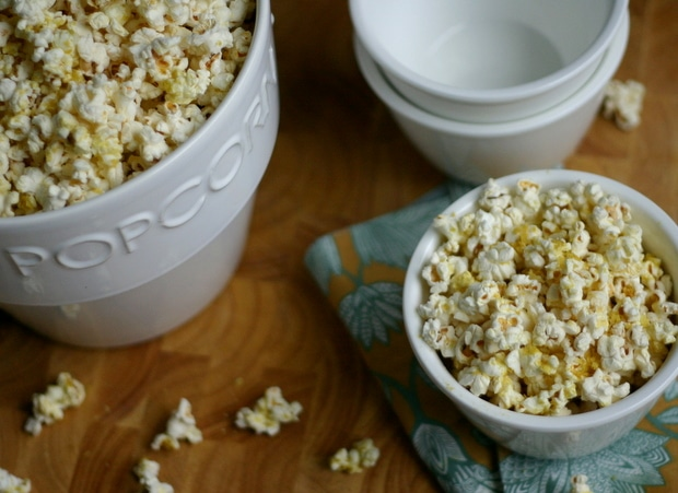 Popcorn with Nutritional Yeast from www.everydaymaven.com