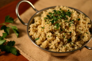 Toasted Garlic and Parsley Quinoa