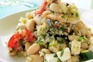 GBOTW: Quinoa Shrimp Salad from Chef Laura at Home