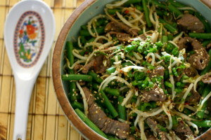 The Food Matters Project: Sesame Orange Beef with Bean Sprouts + Green Beans