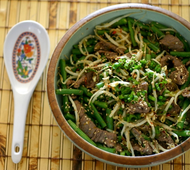 Sesame Orange Beef Stir Fry from www.everydaymaven.com