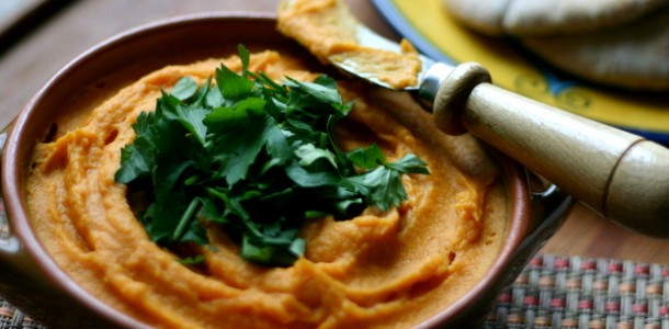 Sweet Potato Hummus from www.everydaymaven.com