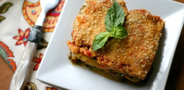 Layered Eggplant And Polenta Casserole Recipe — Dishmaps