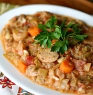 Bean and Chicken Cassoulet from www.everydaymaven.com