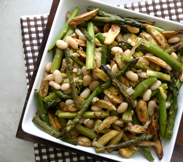 Asparagus, Potato and Bean Salad from www.everydaymaven.com