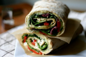 Hummus + Feta Lavash Wraps {Plus Vegan Version}