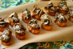 Mushroom Bruschetta from www.everydaymaven.com