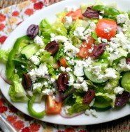 Simple Greek Salad from www.everydaymaven.com