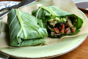 Collard Green Burritos
