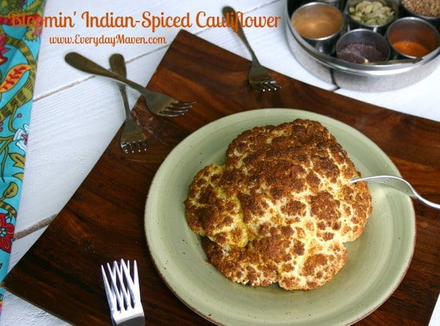 Bloomin' Indian-Spiced Whole Roasted Cauliflower