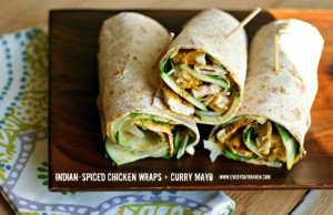 Indian Chicken Wraps from www.everydaymaven.com