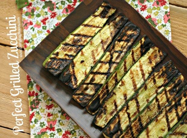 Perfect Grilled Zucchini + Garden Update
