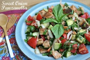 Sweet Onion Panzanella Salad + The Real Cost of Tomatoes