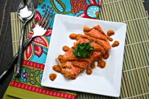 The Food Matters Project: Baked Salmon with Romesco Sauce