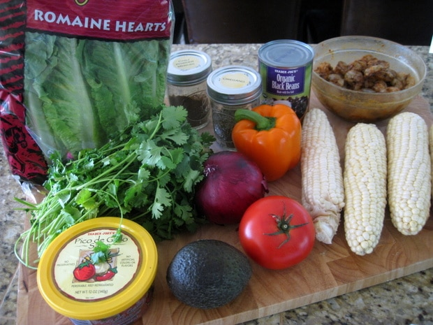 Grilled Shrimp and Corn Salad from www.EverydayMaven.com