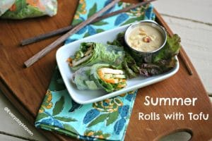 The Food Matters Project: {Tofu} Summer Rolls with Peanut Sauce
