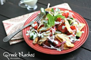 The Food Matters Project: Greek Nacho Salad with Minted Feta Dressing
