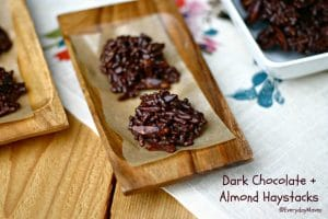 Dark Chocolate and Almond Haystacks