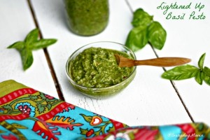 Lightened Up Basil Pesto