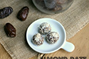 Almond-Date Bites Rolled in Toasted Coconut