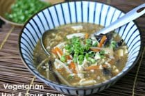 Vegetarian Hot and Sour Soup from www.everydaymaven.com