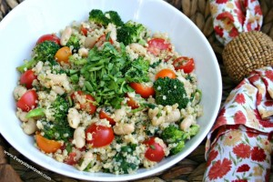 Red, White and Green Quinoa Salad