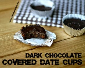 Chocolate Covered Date Cups from www.everydaymaven.com