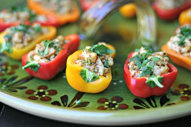 Wild Oregon Shrimp + Pesto Stuffed Sweet Baby Peppers