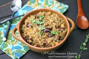 Mediterranean Quinoa with Caramelized Onions