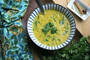 Red Lentil Soup with Spinach from www.everydaymaven.com