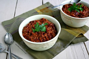 Vegan Red Bean Chili with Millet from www.everydaymaven.com