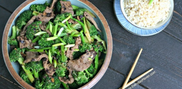 Beef and Broccoli with Black Bean Sauce from www.everydaymaven.com
