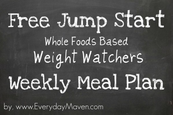 Free Weight Watchers Weekly Meal Plan by www.everydaymaven.com